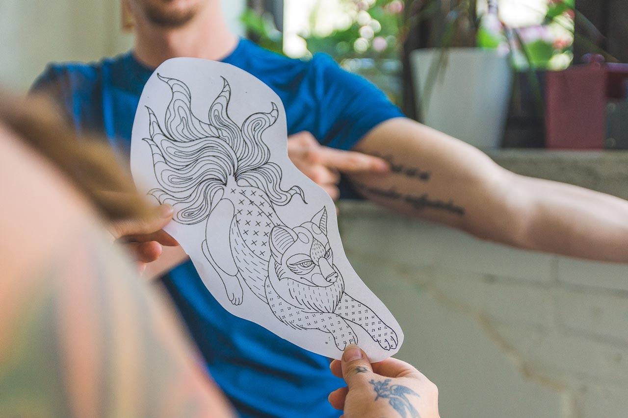 Blue Moon Tattoo - Custom Tattoo